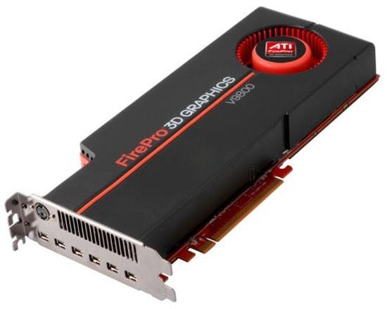 Мощнейшая видеокарта ATI FirePro V9800 с 4 Гб GDDR5 и одновременной поддержкой 6 мониторов