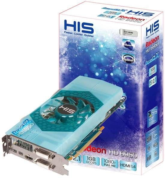 Разогнанные видеокарты HIS Radeon HD 6950 IceQ